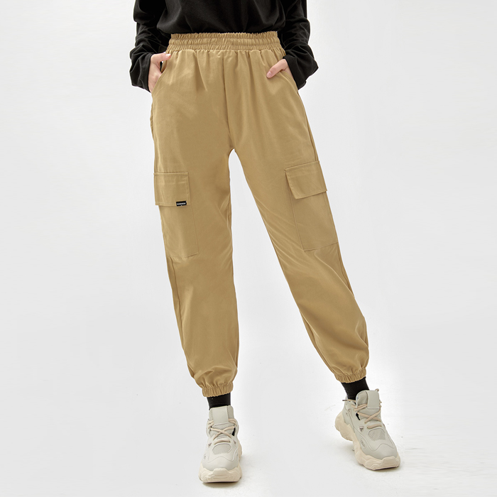 LABEL CARGO JOGGER PANTS