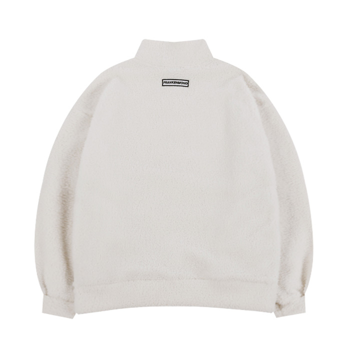 SQUARE FLEECE ZIP-UP